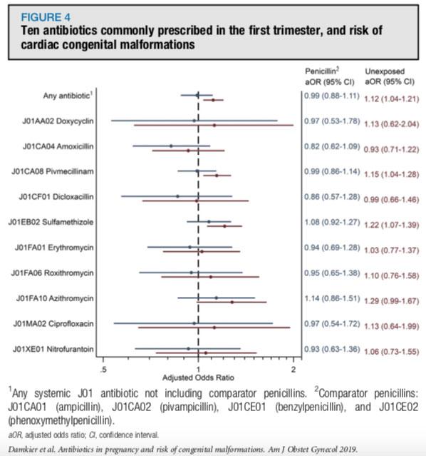 Resultado Antibióticos e Gravidez